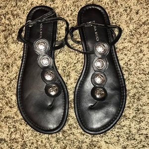 Dana Buchman black sandals